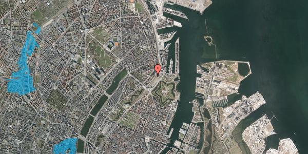 Oversvømmelsesrisiko fra vandløb på Østbanegade 17, kl. tv, 2100 København Ø