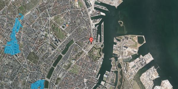 Oversvømmelsesrisiko fra vandløb på Østbanegade 17, 2. th, 2100 København Ø