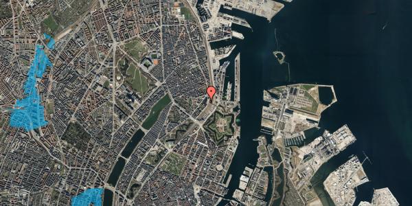 Oversvømmelsesrisiko fra vandløb på Østbanegade 19, st. th, 2100 København Ø