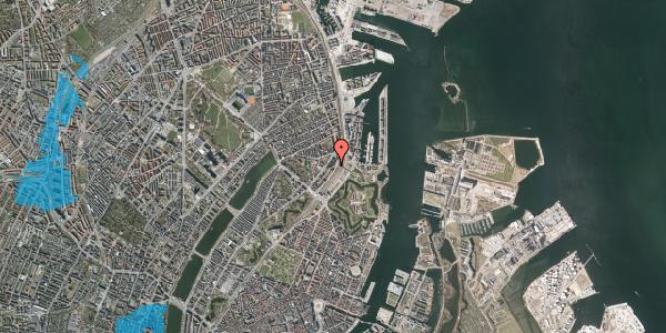 Oversvømmelsesrisiko fra vandløb på Østbanegade 19, st. tv, 2100 København Ø