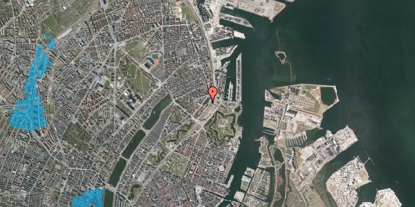Oversvømmelsesrisiko fra vandløb på Østbanegade 19, 1. th, 2100 København Ø