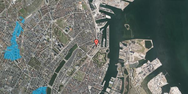 Oversvømmelsesrisiko fra vandløb på Østbanegade 21, 1. th, 2100 København Ø