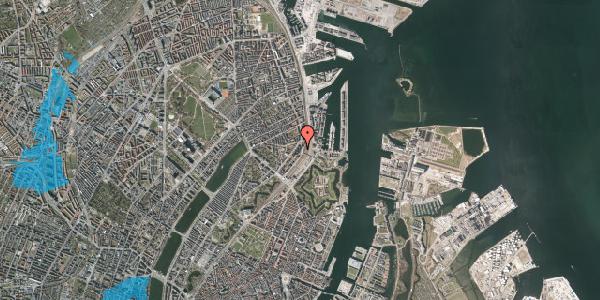 Oversvømmelsesrisiko fra vandløb på Østbanegade 21, 4. th, 2100 København Ø