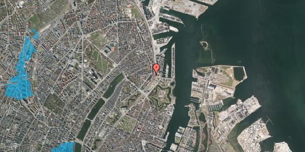 Oversvømmelsesrisiko fra vandløb på Østbanegade 23, st. tv, 2100 København Ø