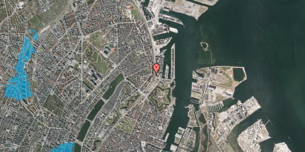 Oversvømmelsesrisiko fra vandløb på Østbanegade 25, kl. , 2100 København Ø
