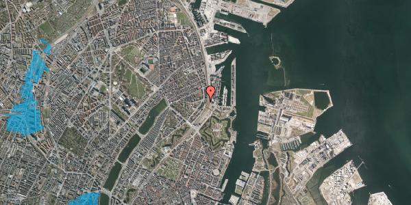 Oversvømmelsesrisiko fra vandløb på Østbanegade 25, 1. th, 2100 København Ø