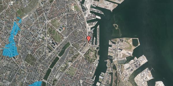 Oversvømmelsesrisiko fra vandløb på Østbanegade 27, kl. , 2100 København Ø