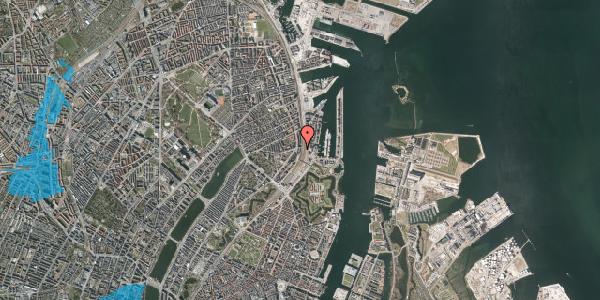 Oversvømmelsesrisiko fra vandløb på Østbanegade 29, 1. th, 2100 København Ø