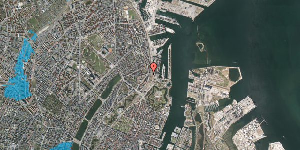 Oversvømmelsesrisiko fra vandløb på Østbanegade 29, 3. th, 2100 København Ø
