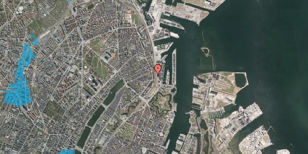 Oversvømmelsesrisiko fra vandløb på Østbanegade 33, 1. 3, 2100 København Ø