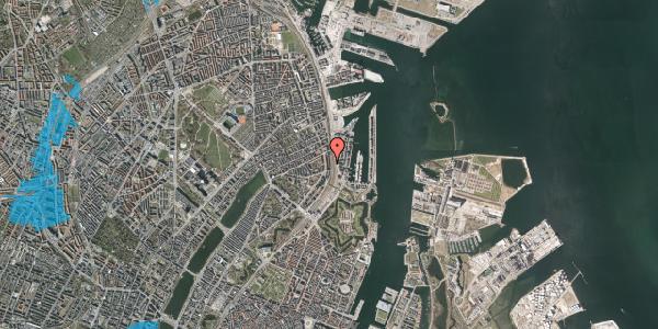 Oversvømmelsesrisiko fra vandløb på Østbanegade 35, 1. 2, 2100 København Ø
