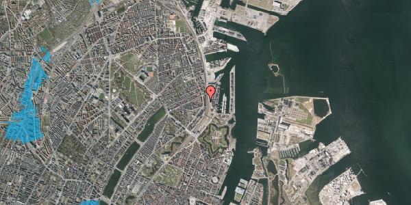 Oversvømmelsesrisiko fra vandløb på Østbanegade 35, 1. 4, 2100 København Ø