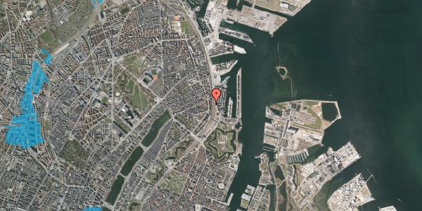 Oversvømmelsesrisiko fra vandløb på Østbanegade 37, st. 1, 2100 København Ø