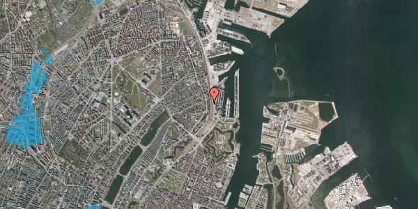 Oversvømmelsesrisiko fra vandløb på Østbanegade 39, 2. 4, 2100 København Ø