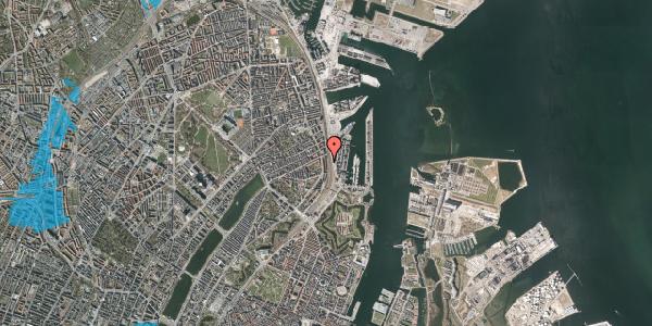 Oversvømmelsesrisiko fra vandløb på Østbanegade 41, kl. 2, 2100 København Ø