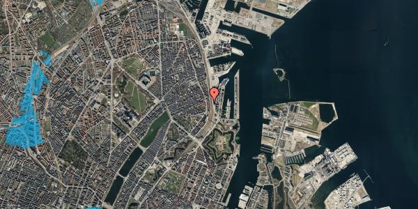 Oversvømmelsesrisiko fra vandløb på Østbanegade 41, st. 3, 2100 København Ø