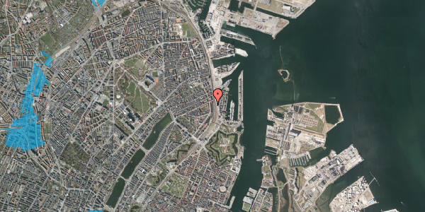 Oversvømmelsesrisiko fra vandløb på Østbanegade 41, 2. 4, 2100 København Ø