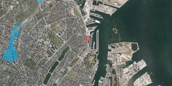 Oversvømmelsesrisiko fra vandløb på Østbanegade 43, 1. 3, 2100 København Ø