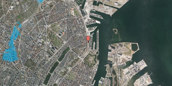 Oversvømmelsesrisiko fra vandløb på Østbanegade 45, st. tv, 2100 København Ø