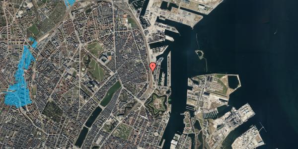 Oversvømmelsesrisiko fra vandløb på Østbanegade 45, 4. tv, 2100 København Ø