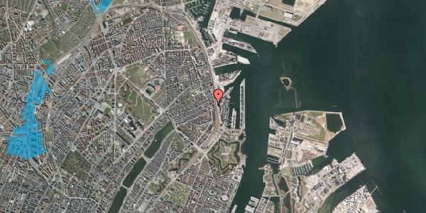 Oversvømmelsesrisiko fra vandløb på Østbanegade 55, st. tv, 2100 København Ø