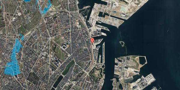 Oversvømmelsesrisiko fra vandløb på Østbanegade 103, 7. 73, 2100 København Ø
