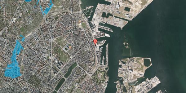 Oversvømmelsesrisiko fra vandløb på Østbanegade 103, 14. 142, 2100 København Ø