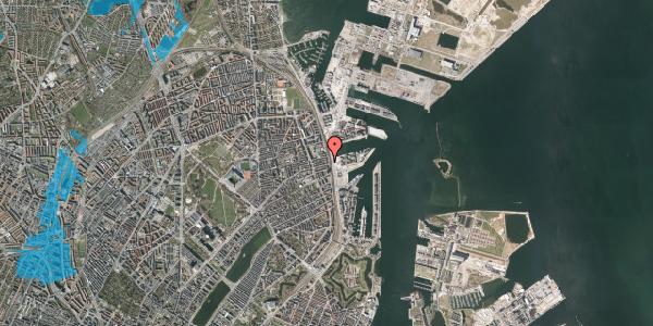 Oversvømmelsesrisiko fra vandløb på Østbanegade 111, 1. th, 2100 København Ø