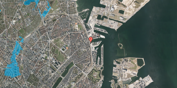 Oversvømmelsesrisiko fra vandløb på Østbanegade 113, st. th, 2100 København Ø