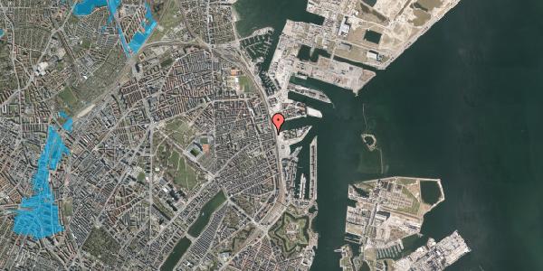 Oversvømmelsesrisiko fra vandløb på Østbanegade 113, 1. tv, 2100 København Ø