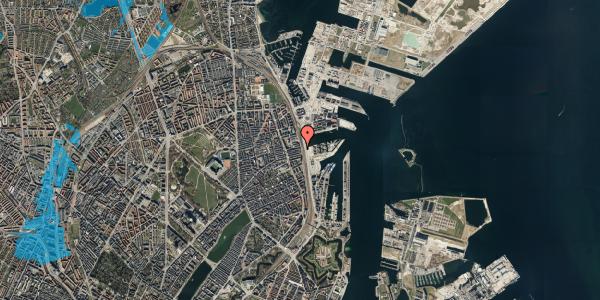 Oversvømmelsesrisiko fra vandløb på Østbanegade 113, 3. th, 2100 København Ø