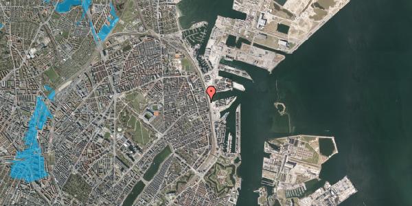 Oversvømmelsesrisiko fra vandløb på Østbanegade 115, 4. , 2100 København Ø