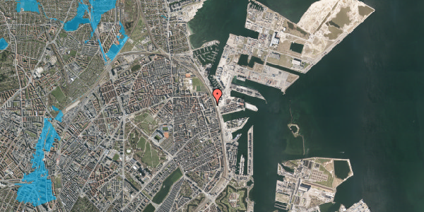 Oversvømmelsesrisiko fra vandløb på Østbanegade 145, 4. th, 2100 København Ø