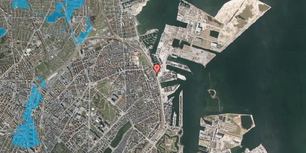 Oversvømmelsesrisiko fra vandløb på Østbanegade 145, 5. th, 2100 København Ø