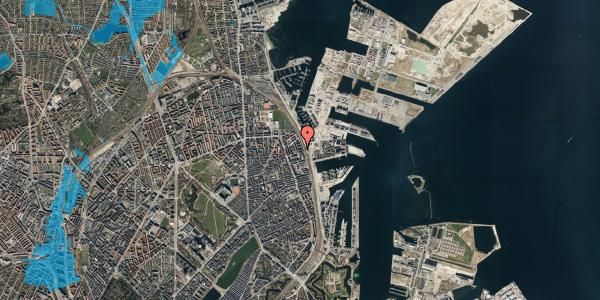Oversvømmelsesrisiko fra vandløb på Østbanegade 147, 2. tv, 2100 København Ø