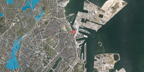 Oversvømmelsesrisiko fra vandløb på Østbanegade 147, 4. th, 2100 København Ø