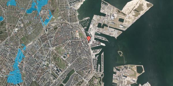 Oversvømmelsesrisiko fra vandløb på Østbanegade 151, 1. th, 2100 København Ø