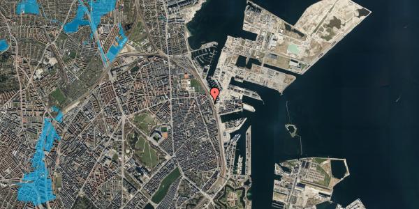 Oversvømmelsesrisiko fra vandløb på Østbanegade 151, 5. th, 2100 København Ø