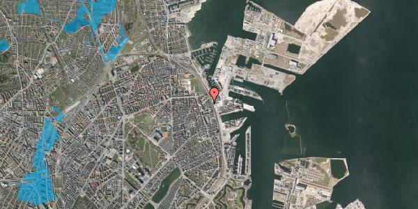 Oversvømmelsesrisiko fra vandløb på Østbanegade 153, 2. th, 2100 København Ø