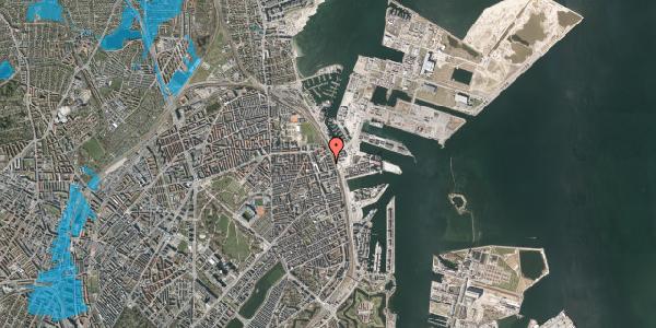 Oversvømmelsesrisiko fra vandløb på Østbanegade 155, 1. tv, 2100 København Ø