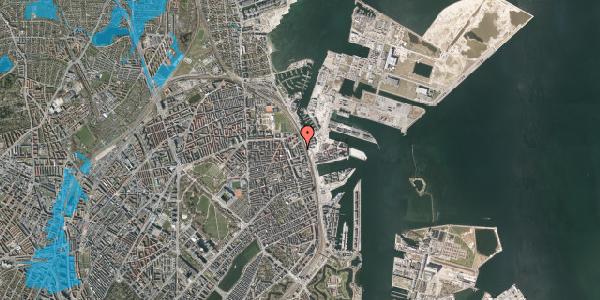 Oversvømmelsesrisiko fra vandløb på Østbanegade 155, 3. th, 2100 København Ø