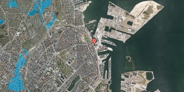 Oversvømmelsesrisiko fra vandløb på Østbanegade 167, 4. tv, 2100 København Ø
