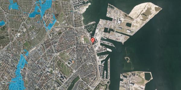 Oversvømmelsesrisiko fra vandløb på Østbanegade 175, 3. tv, 2100 København Ø