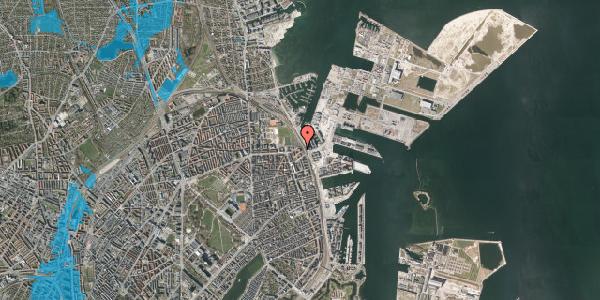 Oversvømmelsesrisiko fra vandløb på Østbanegade 177, 2. th, 2100 København Ø