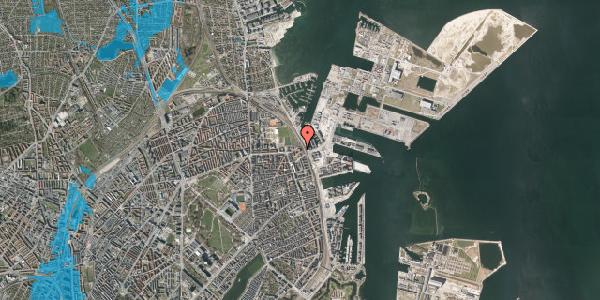 Oversvømmelsesrisiko fra vandløb på Østbanegade 177, 2. tv, 2100 København Ø