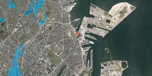 Oversvømmelsesrisiko fra vandløb på Østbanegade 177, 3. tv, 2100 København Ø