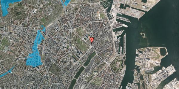 Oversvømmelsesrisiko fra vandløb på Øster Allé 22, 1. , 2100 København Ø