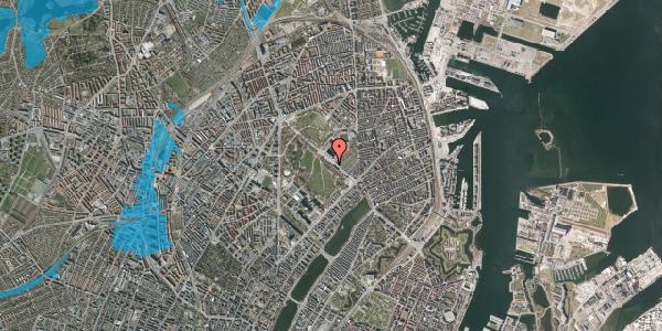 Oversvømmelsesrisiko fra vandløb på Øster Allé 27, 1. , 2100 København Ø