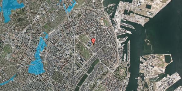 Oversvømmelsesrisiko fra vandløb på Øster Allé 48, kl. 2, 2100 København Ø