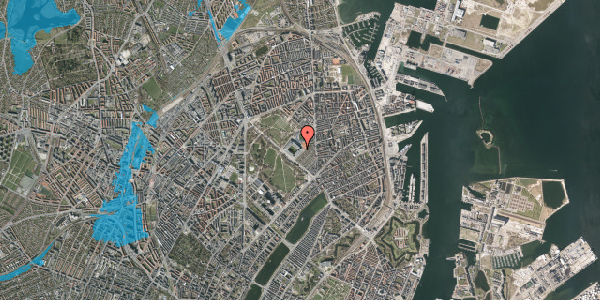 Oversvømmelsesrisiko fra vandløb på Øster Allé 48, 2. , 2100 København Ø
